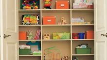 Need to create more space? Try some shelves in the right places.