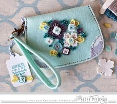Floral Coin Purse by Betsy Veldman for Papertrey Ink (January 2016)