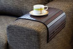 Sofa Tray Table brown TV tray Wooden Coffee table Lap by LipLap, $56.00