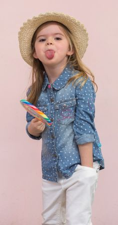 lief! lifestyle SS16 zomer 2016 denim blouse & witte jeans www.lieflifestyle.nl