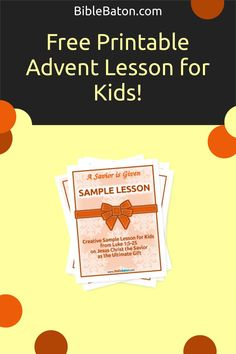 Looking for a free Advent lesson for children's church or Sunday School? Look no further! This Christmas Bible lesson plan for kids, based on Luke 1, does a beautiful job of introducing the events surrounding Christ's birth in a way that's fun and engaging for children. Click through to get your free printable Advent lesson for children now! Family Bible Study, Christmas Bible, The Birth Of Christ, Luke 1, Bible Lessons For Kids, Object Lessons, Hands On Activities, Sunday School, Lesson Plans