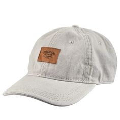 acddd14e6e8 Timberland Canvas Cap w Woven Logo Patch Grey Canvas Hat
