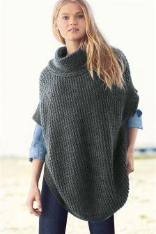 Knitted Stitch Poncho