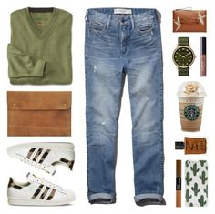 """Saturday at Starbucks"" by lgb321 ❤ liked on Polyvore featuring Abercrombie & Fitch, adidas, NARS Cosmetics, RED Valentino, Marc by Marc Jacobs, tarte, Sonix, starbucks, weekend and saturday"