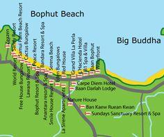 Bophut Beach Map  http://www.thailandtravelhound.com/wp-content/uploads/2010/12/bophut_beach_map.jpg