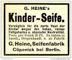 Original-Werbung/ Anzeige 1910 - HEINE'S KINDER-SEIFE / SEIFENFABRIK HEINE…