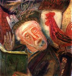 """Imre Amos (Jewish-Hungarian:1907-1944) -  """"So Speaks The Cock"""" (1938) - Private Collection"""