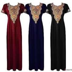 Womens 100% #cotton long nightdress nighty chemise #embroidery #detailed size 14-,  View more on the LINK: http://www.zeppy.io/product/gb/2/261781866866/