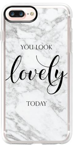 Casetify iPhone 7 Plus Classic Grip Case - Marble - You Look Lovely Today by Ruby Ridge Studios #Casetify