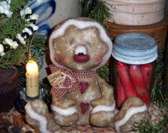 Ratties primitivo de Patti Raggedy creen Santa por pattisratties