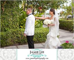 8th Avenue South | Naples Wedding Photographer | Jamie Lee Photography | First Look | Bride and Groom See Each Other Before Ceremony