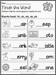 Blending sounds Worksheets for Kindergarten. √ Blending sounds Worksheets for Kindergarten. Spring Math and Literacy Centers Plus A Freebie Phonics Worksheets Grade 1, Kindergarten Worksheets, Literacy Activities, Printable Worksheets, Blends Worksheets, Digraphs Worksheets, Grade 1 Maths, Ks2 English Worksheets, Free Printable