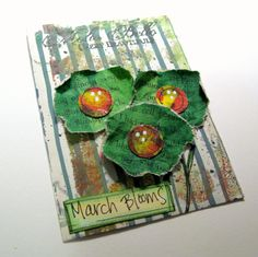 March ATC.  I was determined to do something non-St. Pat's.