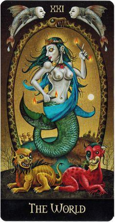Lá XXI. The World - Deviant Moon Tarot - Tarot Việt Nam