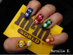 I would never do them I would try to eat my fingernails #M&M fan