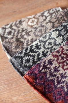 Fair Isle swatches