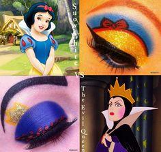 Disney Snow White Evil Queen Inspired Eye Makeup