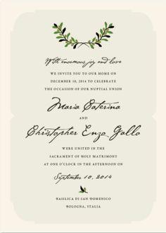 Italian wedding. Elopement Announcement Wording Private Ceremony Announcement Destination Wedding Announcement Second Reception Invitation Courthouse Wedding Announcement Reception Invitation