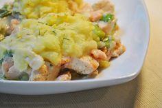 Lachspfanne mit Kartoffelhaube