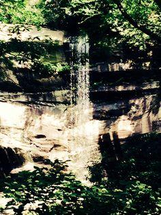 Honeymoon hike. Rainbow falls. Gatlinburg.