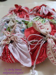 Sacchetti stoffa natalizi