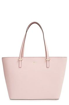 I would love to have a pale pink tote like this Kate Spade New York Small Cedar Street Harmony Tote. Kate Spade Totes, Kate Spade Handbags, Kate Spade Purse, Tote Handbags, Purses And Handbags, Fashion Handbags, Fashion Bags, Purse Necessities, Pink Tote Bags