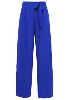 Yumi Spodnie materiałowe cobbalt blue
