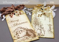 Gorgeous OLD FASHIONED CHRISTMAS tags - LOVE these!