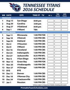 Tennessee Titans Football Schedule. Print Schedule Here -http://printableteamschedules.com/NFL/tennesseetitansschedule.php