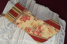 Christmas hanging Stocking  Gold and rusty red by Niriahsattic, $28.00