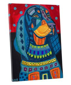 HUGE SALE - Black and Tan Coonhound Dog art dog Poster Print of painting by Heather Galler Paint Your Pet, Dog Poster, Ceramic Coasters, Mexican Folk Art, Hound Dog, Tile Art, Dog Portraits, Dog Gifts, Dog Art