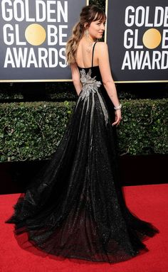 Best Dressed Celebrities: See Their Dresses From the Back - Dakota Johnson in Gucci