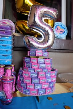 Shimmer and Shine Party Nerds Cake Candy cake