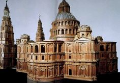 Wooden model of Antonio da Sangallo The Younger's unexecuted design for St Peter's Basilica, 1539