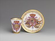 Works by: Meissen Porcelain Manufactory Beaker and saucer  painted by Johann Gregor Herold (1696-1775)