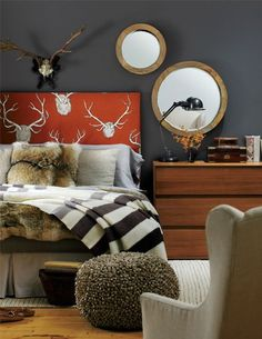 Deer Hunter - Decor Arts Now A lodge look for the country with antlers