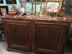 18th C. French Marble Top Buffet