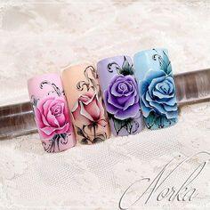 Розы дизайн маникюр