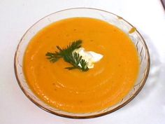 Ginger Carrot Soup Recipe : Yum!!!  Added a medium sized sweet potato, cayenne pepper and a swirl of light cream instead of a cup of heavy cream.  Delicious!!!  ~ABR