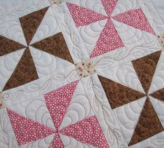 Pinwheel Sampler Block Two - Quilted by Such a Sew and Sew, via Flickr