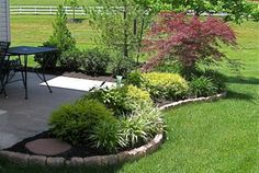 Patio landscaping designs, DIY ideas, photo gallery and 3D design software tools.