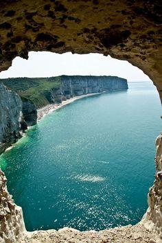 Les falaises de Normandie   France