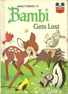 Walt Disney's Bambi Gets Lost Hardcover Book 1972
