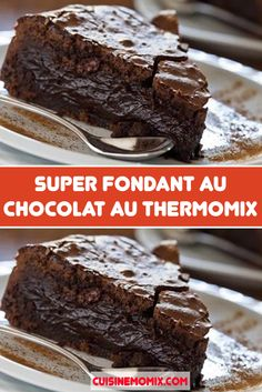 Thermomix Desserts, Dessert Recipes, Cake Au Chocolat Fondant, Yule Log Cake, Book Cakes, Chocolate Decorations, Eclairs, Cake Shop, Plated Desserts