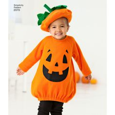 Learn to sew a toddler's bird or jack o' lantern costume with this Simplicity sewing pattern.