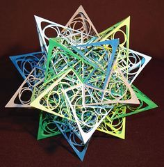 OCD Math Freak Spends Years on Intricately Hand-Cut Polyhedra Ok, not a geodesic dome, but a beautiful sculpture based on a polyhedron!  Many more examples on this site.