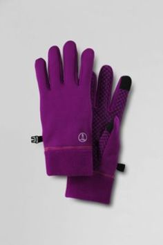 Women's Active Fleece EZ Touch Gloves from Lands' End. Anti-static, anti-pill, keyboard-friendly fingertips. Offered in 9 colors to coordinate with other Active Fleece products in 2 sizes.