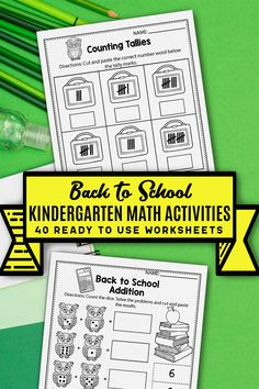 These kindergarten math worksheets for kindergarten were a great addition in my classroom. The set includes kindergarten math worksheets, activities, addition and subtraction activities, counting printables, color by number, ten frames and more. The kindergarten printables are so fun and include so many cute graphics, just like a game. The back to school printables activities can be used during homeschool, or in the classroom for kindergarten and first grade students. #kindergartenclassroom