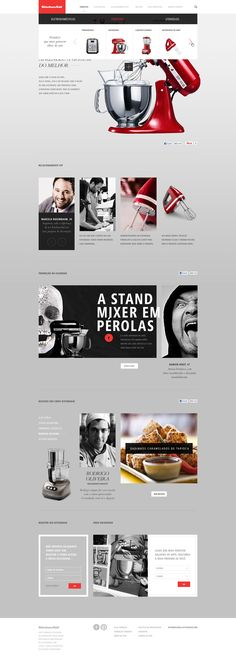 KITCHEN AID - Caio Rogério - really love long scrolling pages for product sites