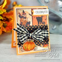 Stamp Simply Fall Pumpkin created by Authentique Paper Halloween Stamp Simply Stamp Simply Clear Stamps Stamp Simply Dies Halloween Projects, Halloween Cards, Halloween Themes, Christmas Themes, Fall Pumpkins, Halloween Pumpkins, Fall Halloween, Happy Halloween, Ribbon Store